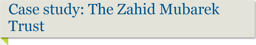 Case study: The Zahid Mubarek Trust